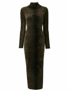 Alexander Wang leopard print dress - Brown