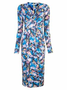 Jason Wu Collection floral print asymmetric dress - Blue