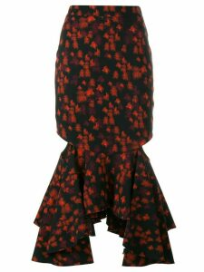 Givenchy fitted peplum skirt - Red