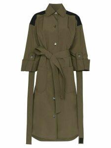 Loewe tie-waist maxi coat - Green