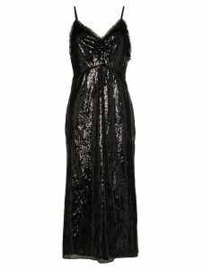 Miu Miu sequinned slip midi dress - Black