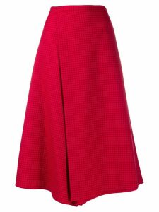 PS Paul Smith check print skirt - Red