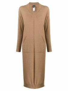 Lorena Antoniazzi long-ling jumper dress - Brown