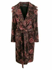 Ann Demeulemeester velvet paisley print coat - Red