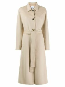 Nanushka belted panel coat - NEUTRALS