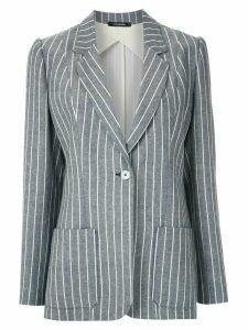 À La Garçonne striped tailored blazer - Blue