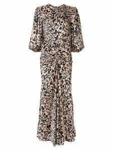 Alexandre Vauthier ruched leopard print dress - PINK