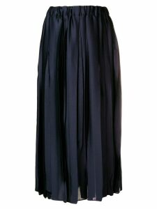 Erika Cavallini pleated midi skirt - Blue