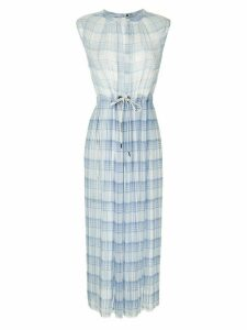 À La Garçonne checkered pleated midi dress - Blue