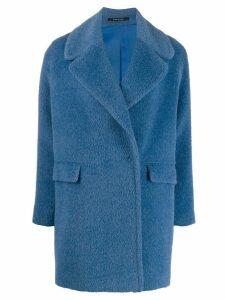 Tagliatore Astrid woven coat - Blue