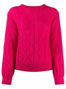 Guardaroba cable knit jumper - Pink