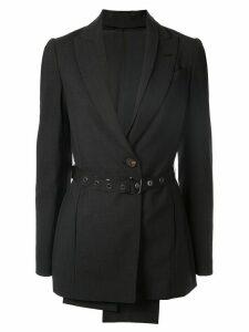 Brunello Cucinelli draped belted blazer - Black