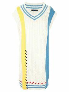 SJYP multi-knit jumper dress - White