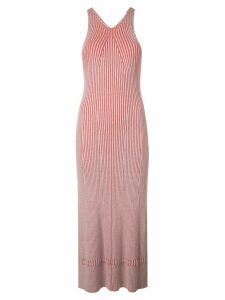 Proenza Schouler White Label Sleeveless Rib Knit Long Dress - Red