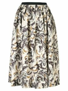 Antonio Marras floral-print flared skirt - NEUTRALS