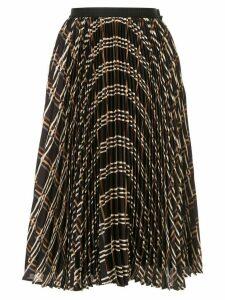 Antonio Marras pleated check skirt - Black