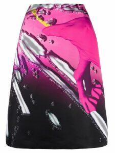 Maison Margiela two-tone A-line skirt - Pink