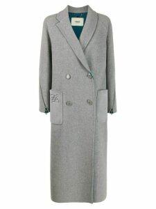 Fendi Karligraphy double-breasted coat - Grey