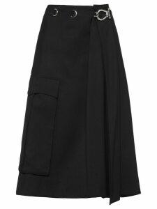 Prada A-line buckle skirt - Black
