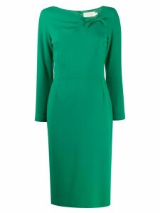 Goat Justine bow detail dress - Green
