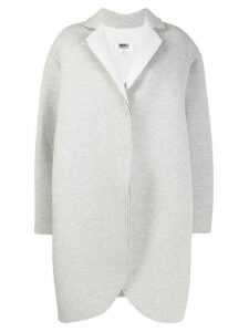 Mm6 Maison Margiela structured single-breasted coat - Grey