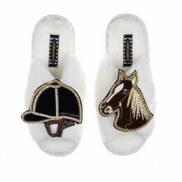 Nissa - Metallic Details Ruffled Dress