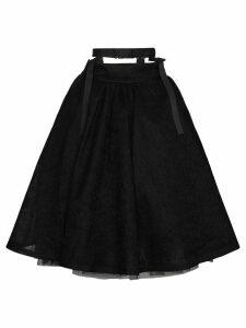 Shushu/Tong High Waisted A Line Skirt - Black