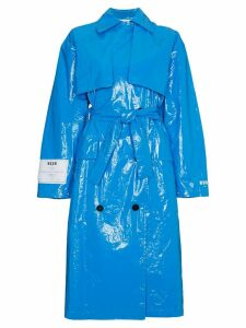 MSGM oversized PVC trench coat - Blue