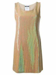 Moschino sequinned mini dress - Gold