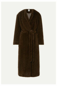 Deveaux - Belted Faux Fur Coat - Brown