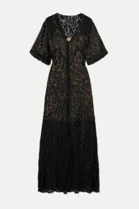 Olivia von Halle - + Maleficent Delphine Devoré-chiffon Maxi Dress - Black