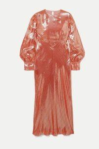 Olivia von Halle - + Maleficent Aureta Lamé Midi Dress - Pink