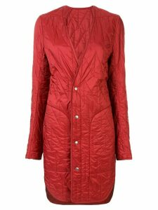 Rick Owens quilted shell coat - Red