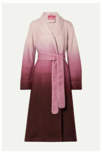 F.R.S For Restless Sleepers - Belted Ombré Wool-twill Coat - Plum