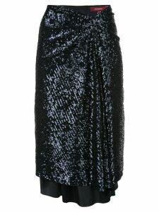 Sies Marjan sequin wrap-front skirt - Blue