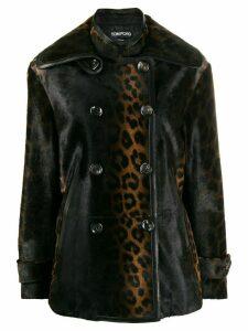 Tom Ford leopard print coat - Brown