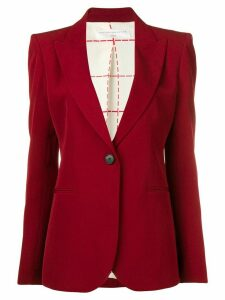 Victoria Beckham single breasted blazer - Red