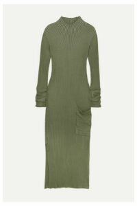 Holzweiler - Norritt Ribbed-knit Maxi Dress - Green