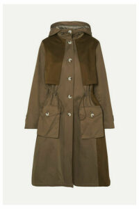 Holzweiler - Citrin Hooded Paneled Cotton-blend Canvas Coat - Green