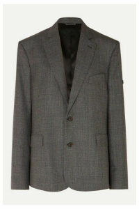 Balenciaga - Prince Of Wales Checked Wool Blazer - Gray