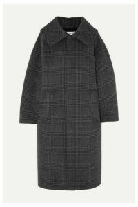 Balenciaga - Incognito Prince Of Wales Checked Wool-blend Coat - Anthracite