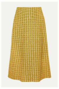 Balenciaga - Metallic Wool-blend Tweed Skirt - Yellow