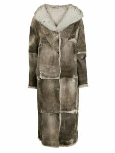 Salvatore Santoro reversible long coat from lapin rabbit skin, ligt