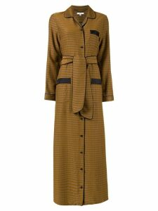 Layeur Fitzgerald pajama shirt dress - Yellow