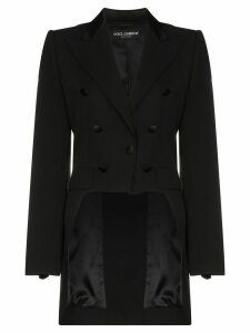 Dolce & Gabbana button embellished tailcoat blazer - Black