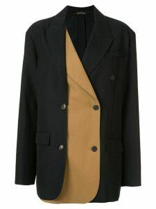 Rokh double layered boxy blazer - Black