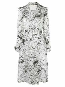 Adam Lippes abstract print trench coat - White