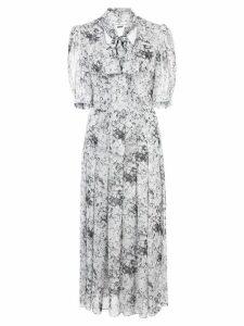 Adam Lippes bow neck midi dress - White