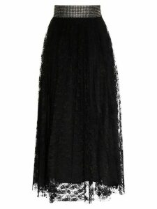 Christopher Kane crystal belt skirt - Black