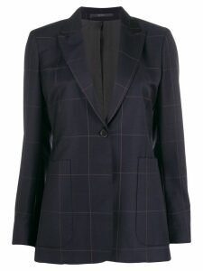 Paul Smith checked single-breasted blazer - Blue